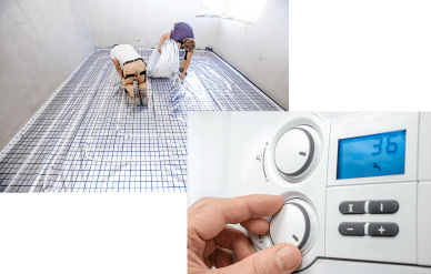 UFH Installation and Vaillaint boiler panel